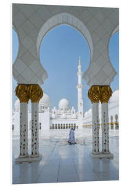 Foam board print  Sheik Zayed Grand Mosque, Adu Dhabi, Emirates - Matteo Colombo