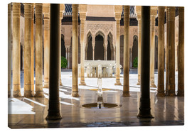 Canvas print  Court of the Lions, Alhambra palace, Granada, Spain - Matteo Colombo