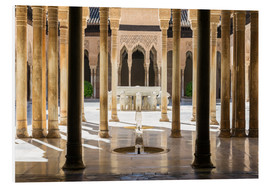 Foam board print  Court of the Lions, Alhambra palace, Granada, Spain - Matteo Colombo
