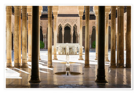 Premium poster  Court of the Lions, Alhambra palace, Granada, Spain - Matteo Colombo