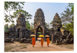 Foam board print  Monks at Angkor Wat - Matteo Colombo