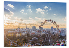 Aluminium print  Sunset over Vienna, Austria - George Pachantouris