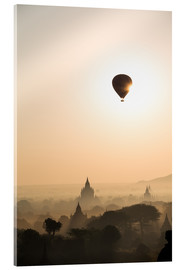 Acrylic print  Sunrise with balloon, Bagan - Matteo Colombo