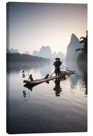 Canvas print  Old Chinese fisherman - Matteo Colombo