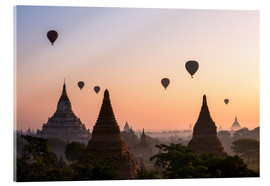 Acrylic print  Balloons and temples, Bagan - Matteo Colombo