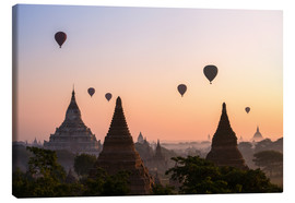 Canvas print  Balloons and temples, Bagan - Matteo Colombo