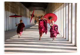 Acrylic print  Young monks running - Matteo Colombo