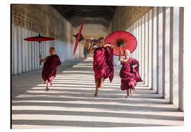 Aluminium print  Young monks running - Matteo Colombo