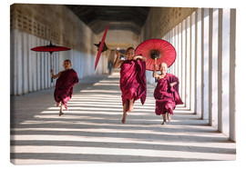Canvas print  Young monks running - Matteo Colombo