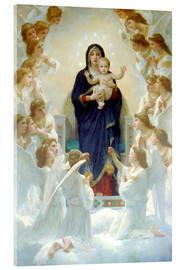 Acrylic glass  The Virgin with Angels - William Adolphe Bouguereau