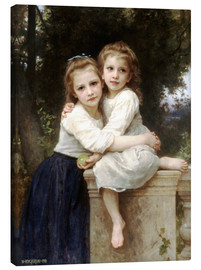 Canvas print  Two sisters - William Adolphe Bouguereau