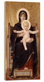 Wood print  Madonna and Child - William Adolphe Bouguereau