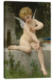 Canvas print  Cupid with butterfly - William Adolphe Bouguereau