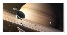 Premium poster Saturn Flyby