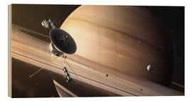 Wood print  Saturn Flyby - Tobias Roetsch