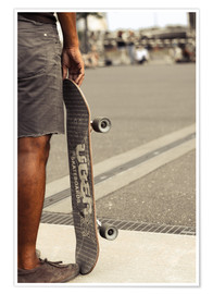 Premium poster Skateboard freedom II - coloured