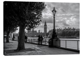 Canvas print  London black and white - Filtergrafia