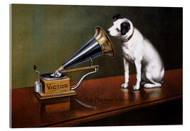 Acrylic glass  His Master's Voice Ad, The Theatre  - François Barraud