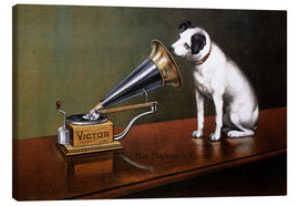 Canvas print  His master's voice ad - François Barraud