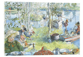 Acrylic print  The Crayfish Season Opens - Carl Larsson