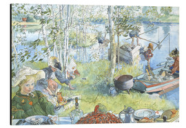 Aluminium print  Opening of the crab fishing season - Carl Larsson