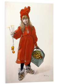 Foam board print  Brita as Idu - Carl Larsson