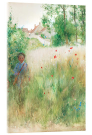 Acrylic print  The flower garden - Carl Larsson