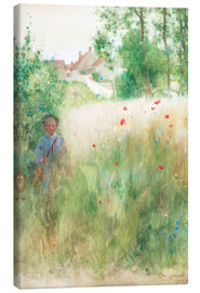 Canvas print  The flower garden - Carl Larsson