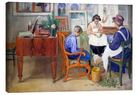 Canvas print  When peeling - Carl Larsson