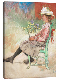 Canvas print  Dagmar Grill in the garden - Carl Larsson