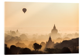 Acrylic print  Balloon over Bagan, Myanmar - Matteo Colombo