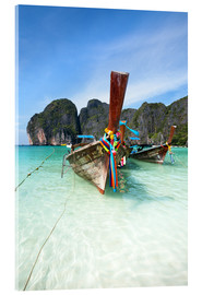 Acrylic print  Decorated wooden boats, Thailand - Matteo Colombo