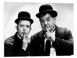 Foam board print  Laurel & Hardy
