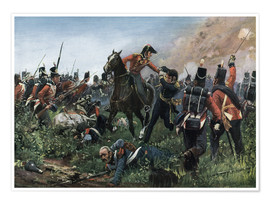 Premium poster Battle of Waterloo 1815