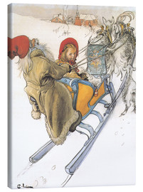 Canvas  Sleigh ride - Carl Larsson