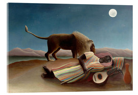 Acrylic print  The sleeping one - Henri Rousseau