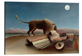 Aluminium print  The sleeping one - Henri Rousseau
