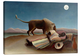 Canvas print  The Sleeping Gypsy - Henri Rousseau