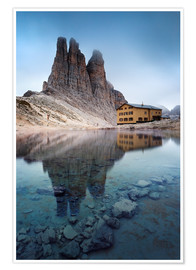 Premium poster Vajolet towers in the Dolomites