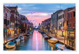 Premium poster Canal in Venice at Christmas