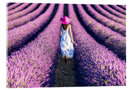Acrylic print  Girl in a lavender field - Matteo Colombo