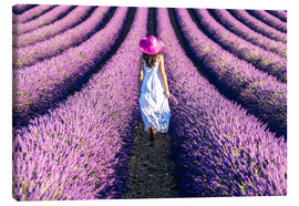 Canvas  Girl in a lavender field - Matteo Colombo