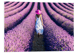 Foam board print  Girl in a lavender field - Matteo Colombo