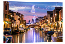 Acrylic glass  Canal in Venice at Christmas - Matteo Colombo