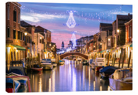 Canvas  Canal in Venice at Christmas - Matteo Colombo