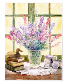 Premium poster  Lupins on Windowsill - Julia Rowntree
