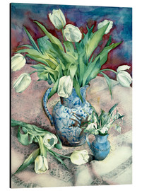 Aluminium print  Tulips and Snowdrops - Julia Rowntree