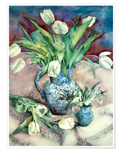 Premium poster Tulips and Snowdrops