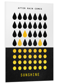 Foam board print  After rain comes sunshine - Elisabeth Fredriksson