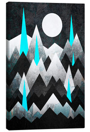 Canvas print  Dark Mountains - Elisabeth Fredriksson